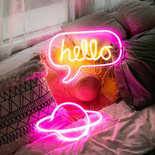 <b>10 Kind LED Neon</b> Lights USB Neon Sign Panel Lights Gift ...