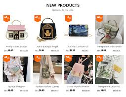 Alice Box <b>Style</b> Embroidered <b>Cartoon</b> Pattern Pu Handbag Women ...
