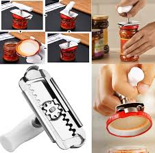 <b>Adjustable Jar Opener Stainless</b> Steel Lids off Bottle Opener Can ...