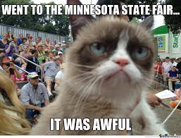 Grumpy Cat Visits Mn State Fair by darthpiette - Meme Center via Relatably.com