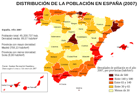 Resultado de imagen de poblacion españa