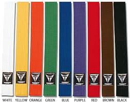 highest karate Dan belt colors