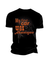 <b>Футболка мужская</b> INFLAME MY <b>FIRST</b> CAR, чёрная