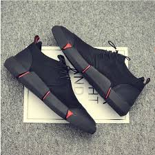 <b>NEW Brand High quality</b> all Black Men's leather casual shoes ...