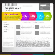 web site design template stock vector copy tumanyan  website title page design template vector by tumanyan