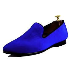 <b>Harpelunde Mens Shoes Dress</b> Blue Velvet Loafers Male <b>Wedding</b> ...