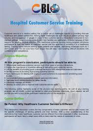 hospital customer service