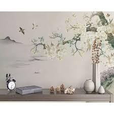 Frisbie Floral <b>Retro</b> Flower <b>Nostalgic</b> Textile Texture <b>Wall Mural</b>