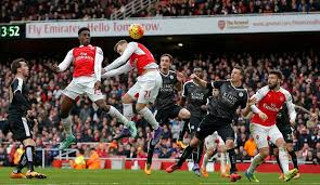 Image result for pics of arsenal's goal against leicester city