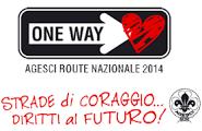 La route nazionale dell'AGESCI: percorrere le strade del nostro tempo con coraggio, per contribuire a costruire il futuro.