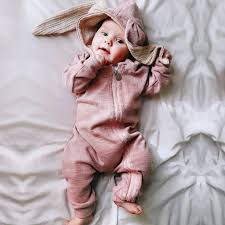 MIOIM Newborn Baby Girls Boys Cute <b>Rabbit Ear</b> Romper Jumpsuit ...