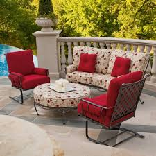 comfortable patio chairs aluminum chair: best outdoor woodard patio furniture with red and floral chair cushions