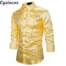 <b>CYSINCOS Mens</b> Suit Vest Crop Top <b>Men Slim Fit</b> Shiny Sequins ...