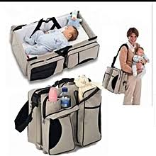 <b>Fashion Baby Diaper Bag</b> And Travel Cot - Mother Care | Jumia.com ...