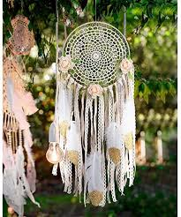 AerWo Boho Dream Catchers Handmade White Gold ... - Amazon.com