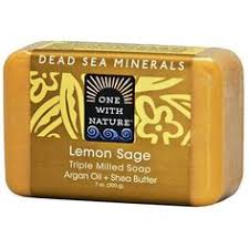 One with Nature, <b>Triple Milled Mineral</b> Soap Bar, Lemon Sage, 7 oz ...