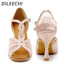 DILEECHI <b>Latin Dance</b> Shoes Women Party Dance Shoes Satin ...