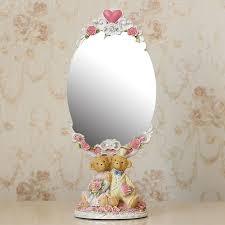 table mirror: vintage oval mirror table makeup dresser desktop decorative mirror embossed framechina mainland
