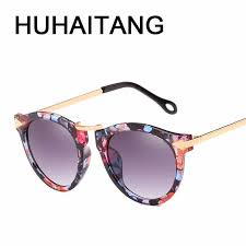 <b>HUHAITANG Luxury Oversized</b> Sunglasses Women Vintage Round ...