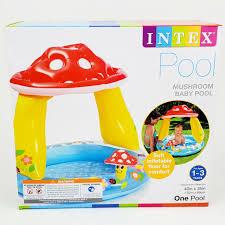 Intex <b>Mushroom</b> Baby Pool <b>Inflatable</b> Kids Swimming Wading with ...