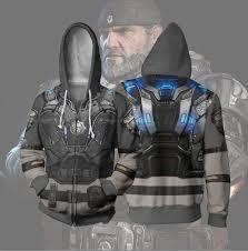 2019 的 Gears 5 Sweat à Capuche Unisexe <b>3D Hoodie Zip</b>-up ...