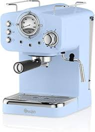 Swan SK22110BLN, <b>Retro</b> Pump Espresso <b>Coffee</b> Machine, 15 Bars ...