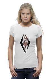 """Женские футболки c необычными принтами """"skyrim"""" - <b>Printio</b>"""