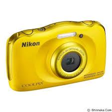 Hasil gambar untuk Nikon Coolpix W100 Compact Waterproof Camera - 13.2MP - Kuning