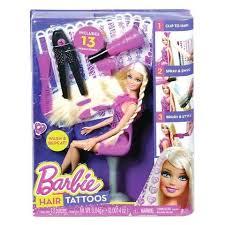 Кукла <b>Mattel Игровой набор</b> с куклой Барби Татуировки для волос ...