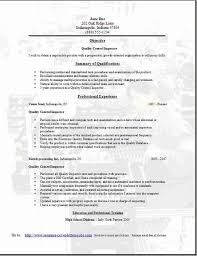 quality control resume  occupational examples samples free edit    quality control resume