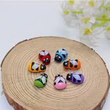 <b>100pcs</b>/<b>Lot</b> Cartoon <b>Mini</b> Bee Ladybug Wood Self Adhesive 3D ...