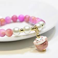 <b>Jewelry Women</b>/Girl Natural Stone Lucky <b>Bracelet Bracelet Lucky Cat</b>