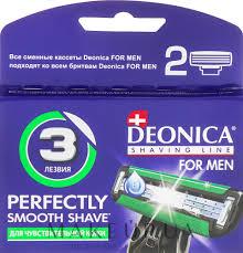 <b>Deonica For Men</b> - Сменные <b>кассеты</b> для бритья, 3 лезвия, 2 шт ...