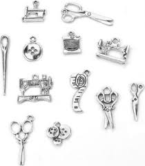 <b>12Pcs Sewing Charms</b> Collection Antique Silver Scissors Pendant ...