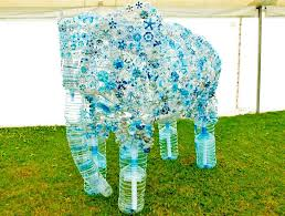 Image result for recycled bottle art