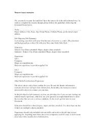 resume  example resume layout  corezume coexamples resumes onebuckresume