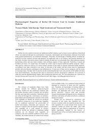 (PDF) Pharmacological Properties of <b>Herbal Oil</b> Extracts Used In ...
