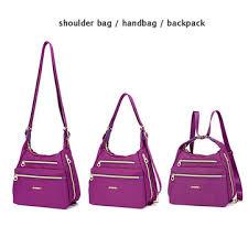 <b>women nylon</b> waterproof double-sided crossbody <b>bag</b> ...