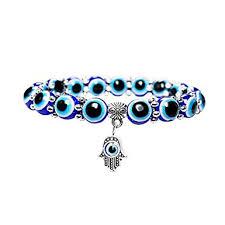 Simdoc 10mm Blue Evil Eye Beads Stretch Bracelets ... - Amazon.com