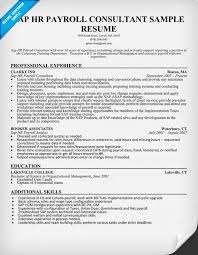 sap hr payroll consultant resume sample resumecompanioncom resume samples across all industries pinterest resume examples and resume sap sample resumes