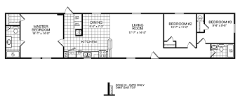 Small Picture 3 Bedroom Mobile Home Floor Plan Manufactured Home and Mobile