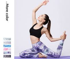 Ladies Sports High Waist <b>Trousers</b> Printed Quick Dry <b>Stretch</b> Tight ...