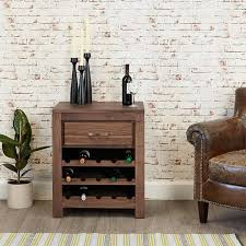 mayan wine rack lamp table bedside table baumhaus space shape baumhaus mobel solid oak wine rack lamp