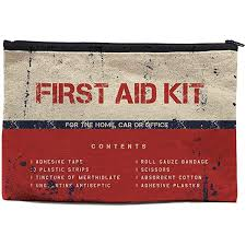 Chillake Vintage <b>First Aid</b> Kit Natural Cotton Zipper <b>Pouch</b>