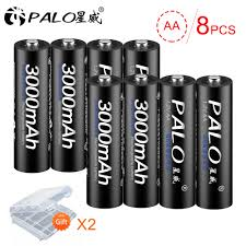 Detail Feedback Questions about <b>PALO 8Pcs</b> 1.2V <b>AA</b> rechargeable ...