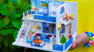 4 <b>DIY</b> Miniature <b>Dollhouse</b> Rooms *<b>NEW</b>* - YouTube
