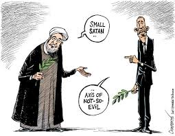 Image result for PEACE WITH IRAN CARTOON