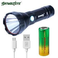 Super Bright Flashlight 18650 <b>Battery Reminder USB</b> Charge Light ...