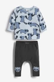 Купить Синий <b>комплект</b> из 2 <b>предметов с</b> енотами: футболка и ...