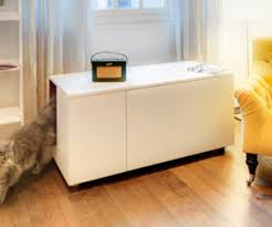 the catteux litter box cabinet for cats with style cat litter box furniture diy